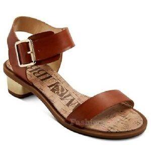 Gold Low Chunky Heel Sandal